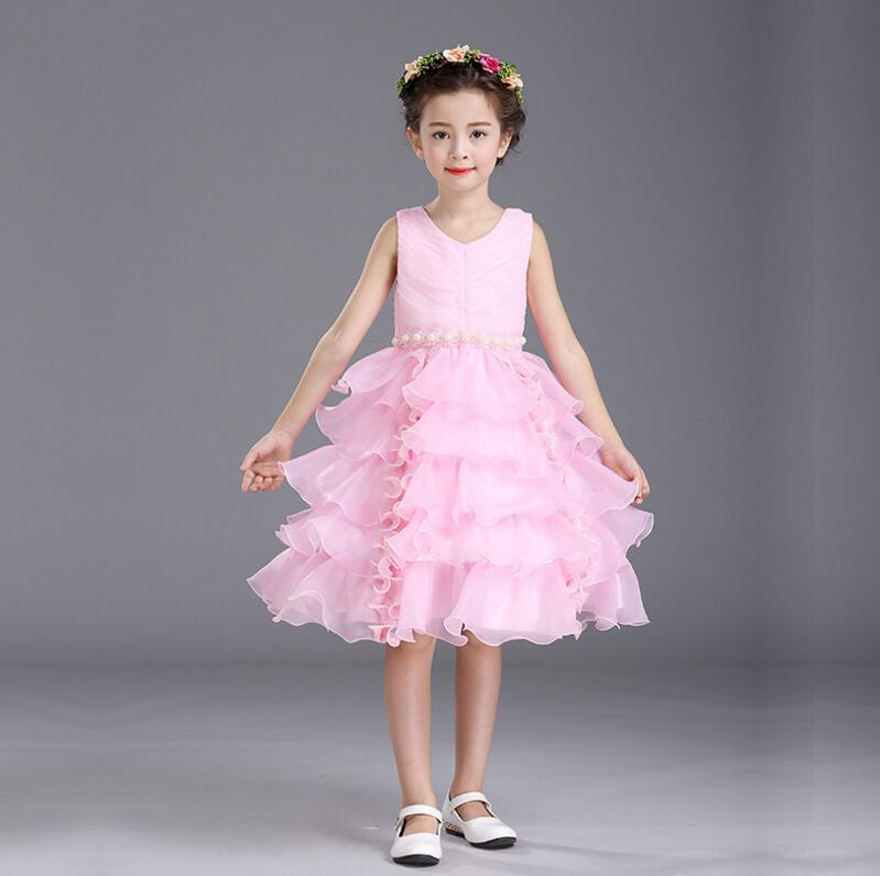 Girls Layered dresses for party and wedding Kids Tutu Frocks Prom ...