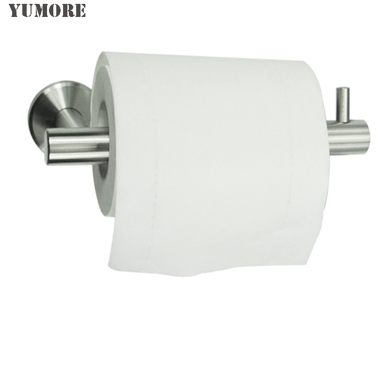 SUS 304 Stainless Steel Toilet Paper Holder Bathroom Toilet Roll Holder For Paper Towel Bathroom Accessories stainless steel wall mounted waterproof toilet roll paper holder of high capacity for toilet hotel and bathroom