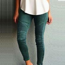 Модные женские туфли Брюки для девочек Досуг тонкий карандаш Брюки для девочек узкие эластичные штаны плюс Размеры LJ5599E