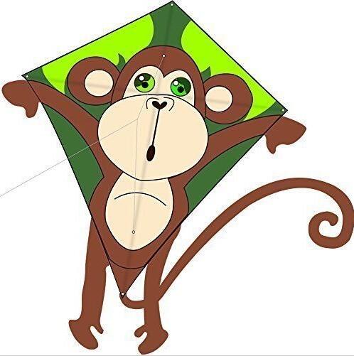 حرية الملاحة في الهواء الطلق متعة الرياضة الطفل الكرتون طائرة ورقية / الحيوانات الصغيرة القرد الطائرات الورقية مع مقبض وسلسلة الطائر جيدة