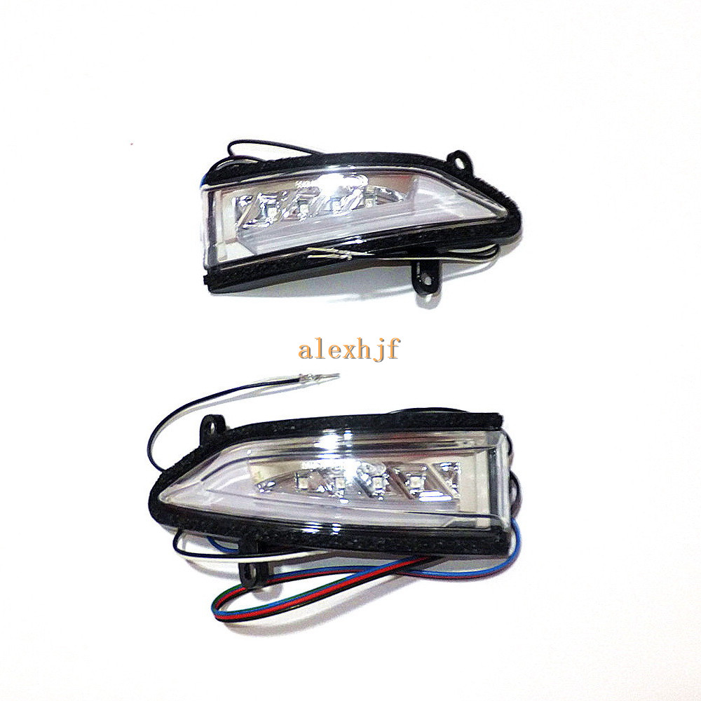 July King LED Rear-view Mirror Lights Case for Nissan Sentra Sylphy Livina and Tiida 2012~15; Side Turn Signals DRL Ground Lamp eemrke for toyota crown majesta s200 2009 2013 side rear view mirror lights led drl turn signals irradiated ground lights