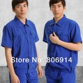 Free Shipping quality summer short sleeves ventilated factory workshop working suit auto garage mechanic working clothes
