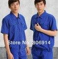 La calidad Libre del envío del verano de manga corta ventilado traje auto garaje taller de trabajo ropa de trabajo mecánico