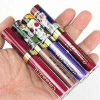 New Brand Makeup 6pcs Set Matte Lipstick Waterproof Metal Liquid Lipstick Shimmer Red Lips Lip Gloss