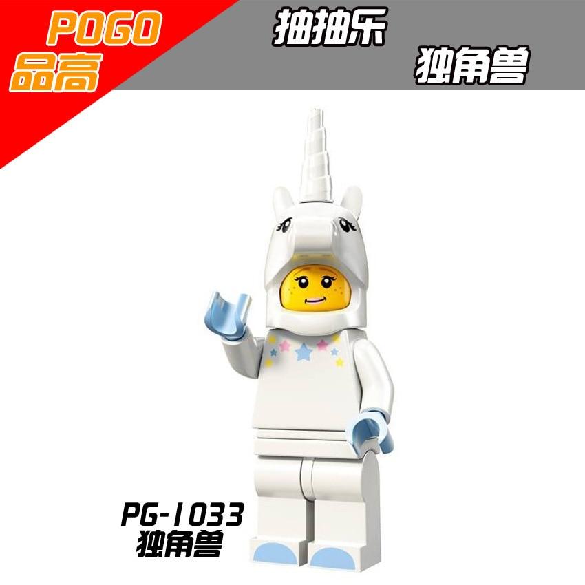 PG1033 Building Blocks Gingerbread Man Medusa Rocket Boy Unicorn Girl Statue of Liberty legoings Royal Family DIY Gift Toys Kids
