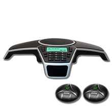 A550PUE multipoint רמקול דיבורית PSTN כנס טלפון עם 2 להרחבה מיקרופונים