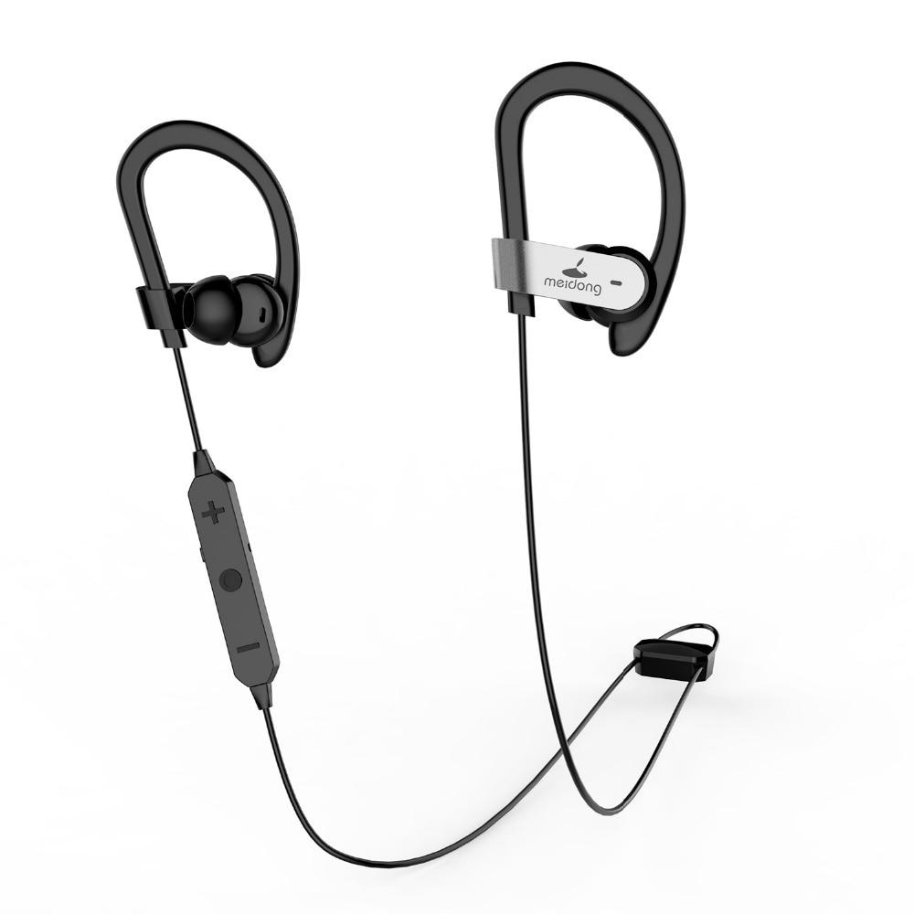 Meidong originais HE8C Active Noise Cancelling Sem Fio Bluetooth Fone de Ouvido Fones de Ouvido desportivos do Bluetooth APTX Fone De Ouvido para telefones