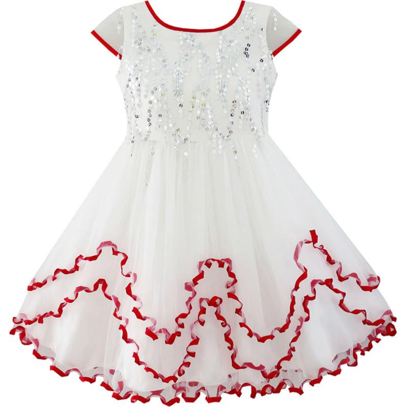Flower     Girl     Dress   Sparkling Sequin Wedding   Dress   2018 Summer Princess Party   Dresses   Clothes Size 4-10