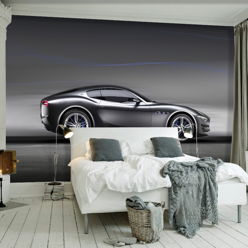 <font><b>Wallpapers</b></font> Youman Custom Photo <font><b>Wallpaper</b></font> <font><b>3D</b></font> Brick Wall Murals <font><b>Car</b></font> Black Robot Broken Wall <font><b>Wallpaper</b></font> Kids Room Background Decor image