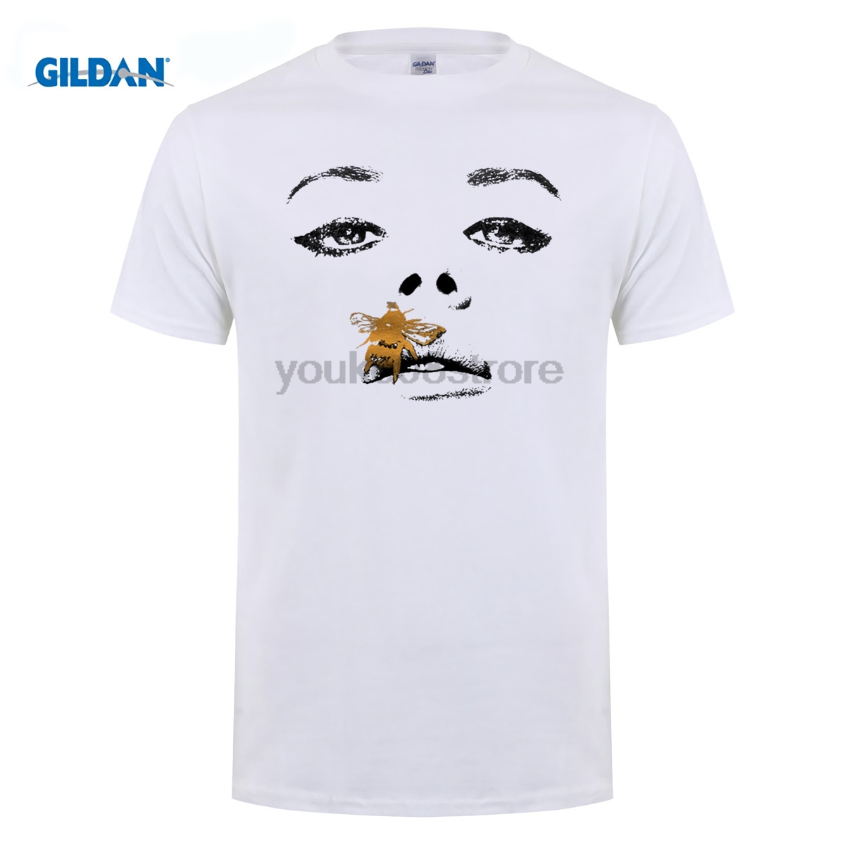 GILDAN Harajuku t-shirt men Amy Winehouse/R.I.P whitney houston/ lana del rey print t shirt