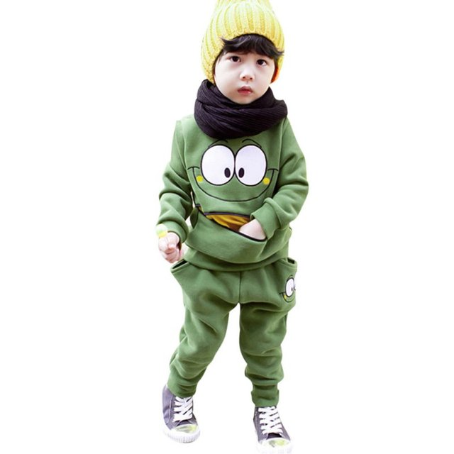Baby Boys Girls Kid SportsWear Tracksuit Outfit Smiling Face Unisex Suit Autumn Spring
