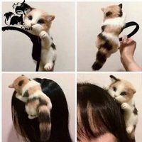 Hot Sale Japanese Style Mori Girl Lolita Kawaii Cat Head Hairbands Party Headdress Headwear Ornament Hair