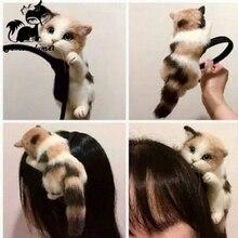 Горячие Продажи в Японском Стиле Мори Девушка Лолита Kawaii Cat Глава Hairbands Партия Головной Убор Головные Уборы Орнамент Волос Обруч Аксессуары