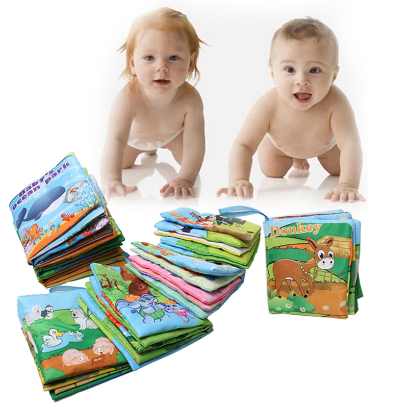 Infant Baby Cloth Book Intelligence Development Books Toys Learning Education Unfolding Activity Books Stroller Accessories new stereo flowers baby toys hot new infant kids early development cloth books learning education toys creative gifts books