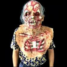 Хэллоуин биохимические Дьявол маска головные уборы ужасную партии Платье для косплея дом с привидениями ужасов Монстр чужой зомби Маски для век реквизит 25