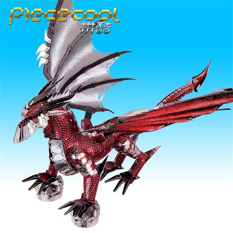 Image 4 - 2019 Piececool 3D Metal Puzzle The Black Dragon Model DIY Laser Cut Assemble Jigsaw Toy Desktop decoration GIFT For Adult kidsPuzzles   -