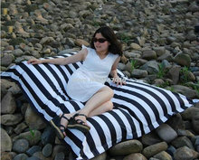 Sunshine enjoy black strips bean bag chair