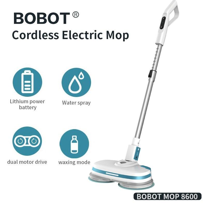 BOBOT 8600 Andar Mop Robô Elétrico Elétrica Cordless Handheld Spray Chão Mop Rotação Mop Limpeza do Chão Mop Elétrica Sem Fio