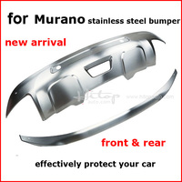 For Nissan Murano 2015 2016 2017 Stainless Steel Skid Plate Bumper Protector Bull Bar Front Rear