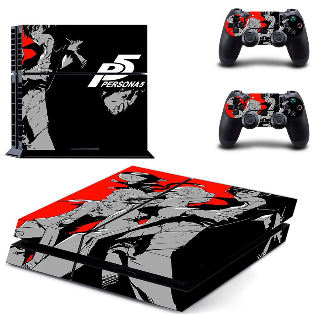 Persona 5 PS4 Stickers Play station 4 Skin Vinilo P5 Sticker For PlayStation4 PS 4 Console and Controller Skins Pegatinas image