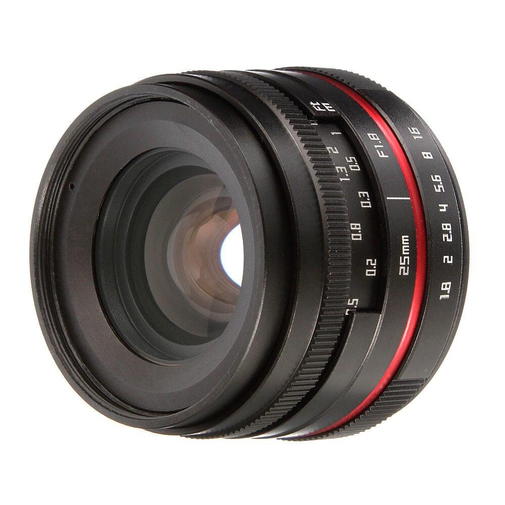25mm F1 8 Prime Camera Lens Manual Focus MF For Panasonic Olympus MFT M4 3 Mount