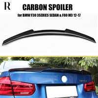 M4 Styling Kohlefaser Heckspoiler Spoiler für BMW F30 3 Serie 320i 328i 328d Limousine & F80 M3 2012-2017