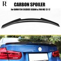 M4 Styling Carbon Fiber Rear Wing Spoiler for BMW F30 3Series 320i 328i 328d Sedan & F80 M3 2012 2017