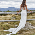 Robe vestidos Vintage Sexy Beach Bohemian Wedding Dresses Simple 2016 Bride Gown Lace Casamento