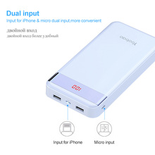 Yoobao PowerBank 20000 mAh 2 USB Fast Charge Portable Pover Bank For iPhone X 8 7 6 5 4 Power Bank For Xiaomi Mi A1 MAX Phones