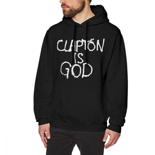 0d182dde5 Eric Clapton Hoodie Clapton Is God White On Black Hoodies Streetwear Nice  Pullover Hoodie Cotton Men Big Long Sleeve Hoodies