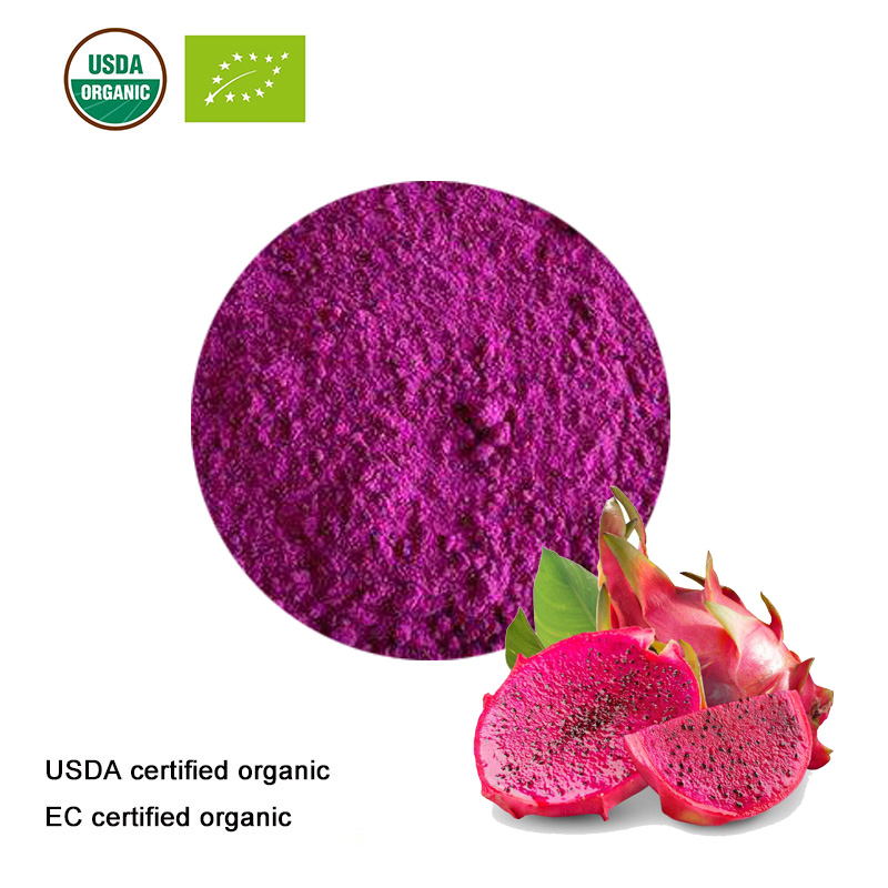 USDA And EC Certified Organic Pitaya Juice Powder Red Dragon Fruit Juice Powder