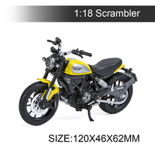 Maisto 1:18 Motorcycle Models Ducati Scrambler Yellow Diecast Moto Miniature Race Toy For Gift Collection