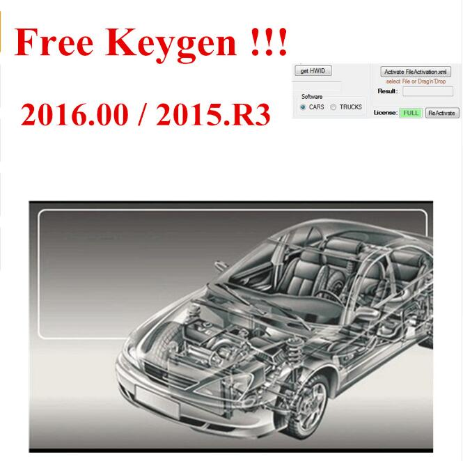 Newest for <font><b>vd</b></font> <font><b>ds150e</b></font> cdp 2016.00 software keygen as gift for delphis autocome support 2016 years model cars trucks image