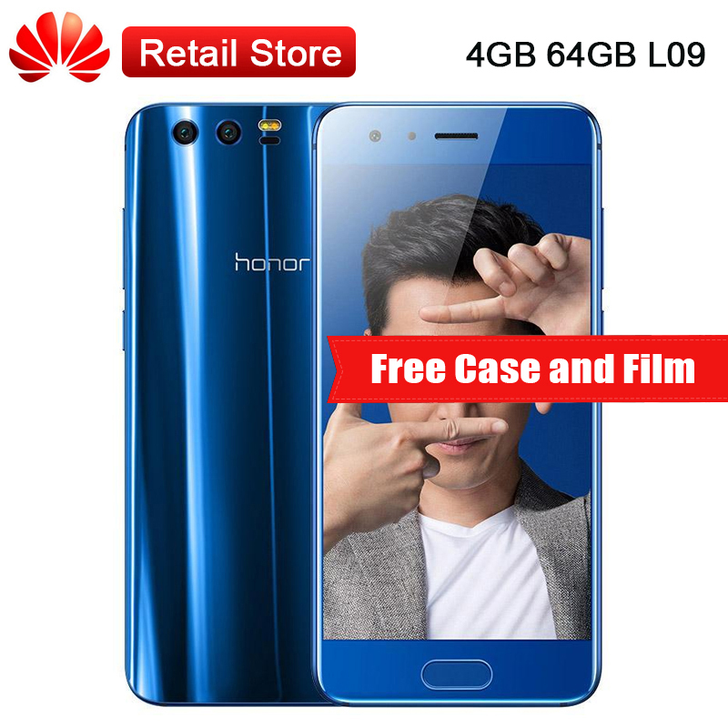 Huawei Honor 9 STF-L09 4GB RAM 64GB ROM 4G LTE 5.15''Kirin 960 Octa Core 1920x1080 3 Cameras NFC OTG Fingerprint Mobile Phone