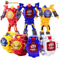 2017 4 Style Fashion LED Digit Kids Children Watch Sports Cartoon Watches Cute Robot Transformation Toys