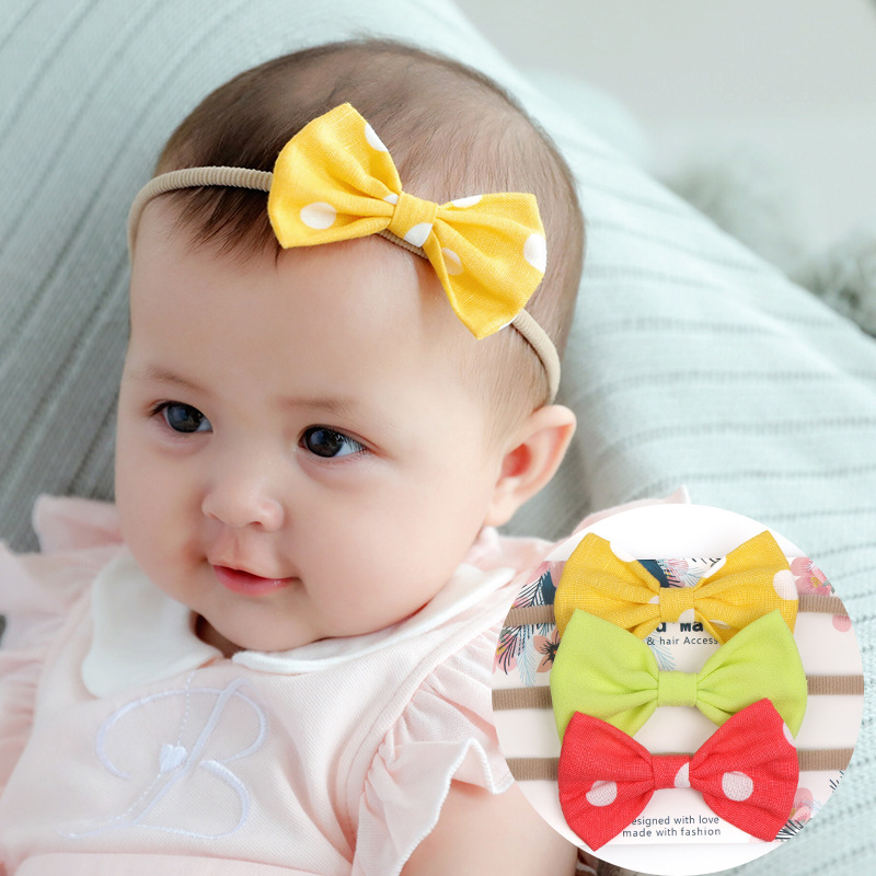 Baby Girl Kids Elastics Hair Head Bands Flower Satin Ribbon Bows Headband Accessories Gum For New Borns Hair Wrap Hairband Tiara