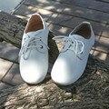 Nuevos Niños Chicos y Chicas Zapatillas de gamuza cuero de Vaca con cordones de Oxford Zapatos de Los Niños zapatos ocasionales Del Envío libre