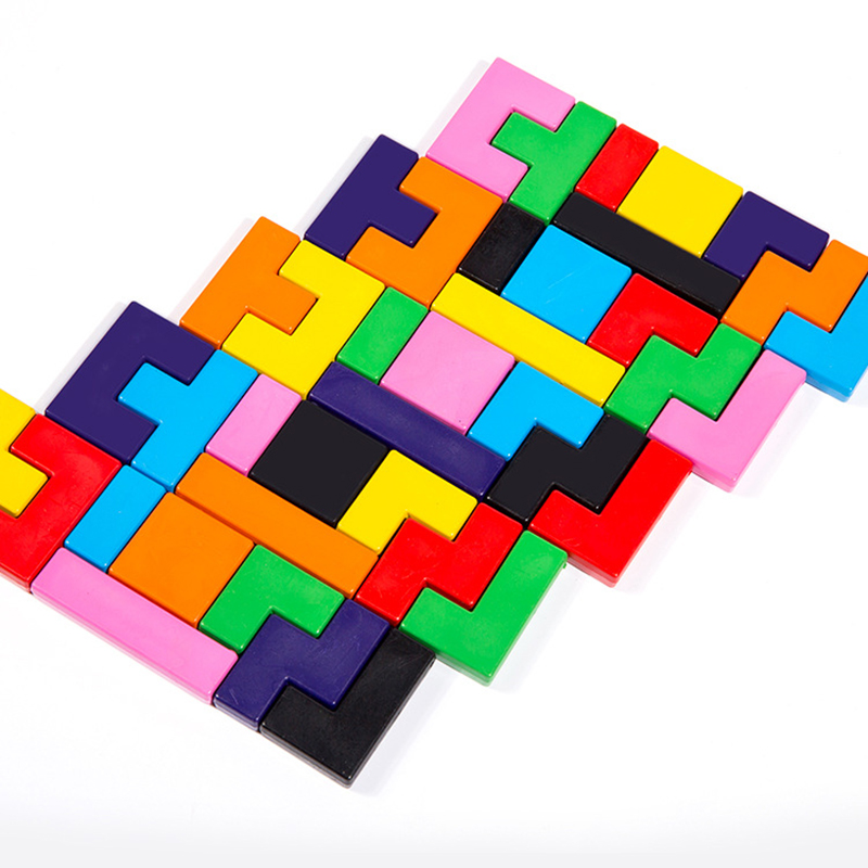 Creative tetris blocks Building Blocks jigsaw safe and non-toxic children's puzzle early education stationery crayons