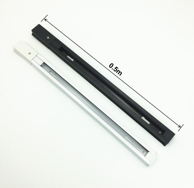 Track Lighting Fixtures Rail 50cm Aluminum Rail 0.5m For Track Light 2 Wires Universal Rails Track Lamp Rail