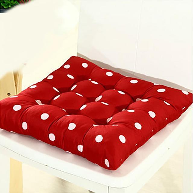 Spessore Morbido Cuscini Per Sedie Per La Cucina Home Office Sedia Quadrato  di Colore Solido Cuscino del Sedile Glutei Chair Cuscino Pad 41x41 cm in ...
