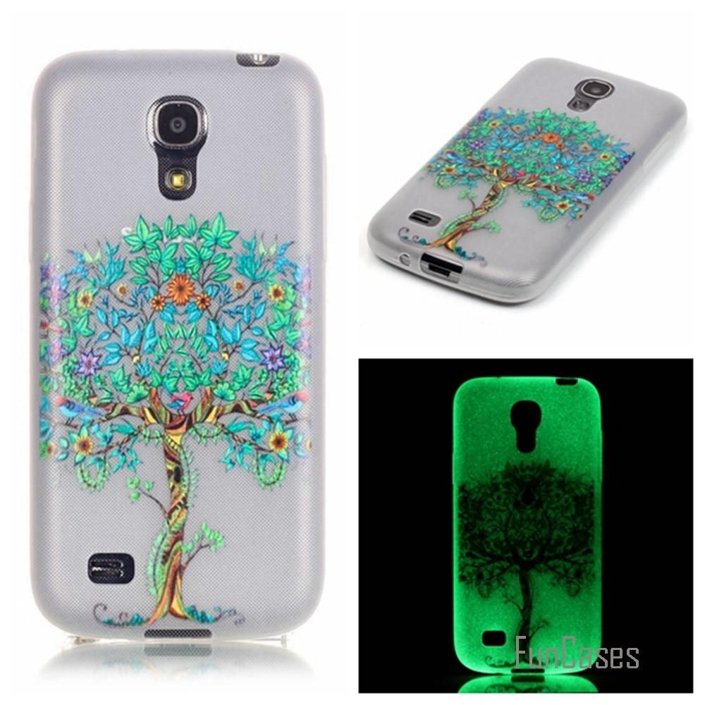 New Fashion Luminous night Slim phone Cases for Samsung Galaxy S4 Mini i9190 Fluorescence Soft TPU Silicon back cover skin