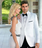 custom men clothes for groom wedding suits man white 2019 formal wear