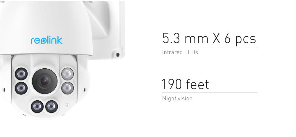 Reolink 5MP WiFi Pan Tilt 4x Optical Zoom CCTV Camera