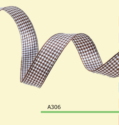 100yards roll 1 Inch 25mm Houndstooth Brown font b Tartan b font Ribbon For Hair Flowers