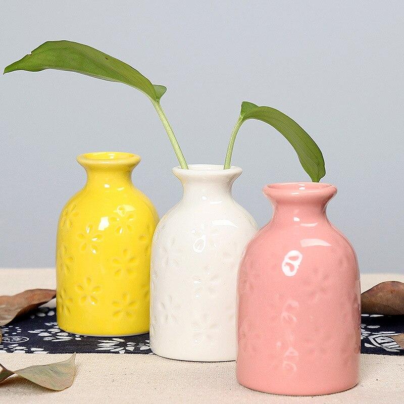Modern Ceramic Vase Flower Bottle Plant Hydroponic Container