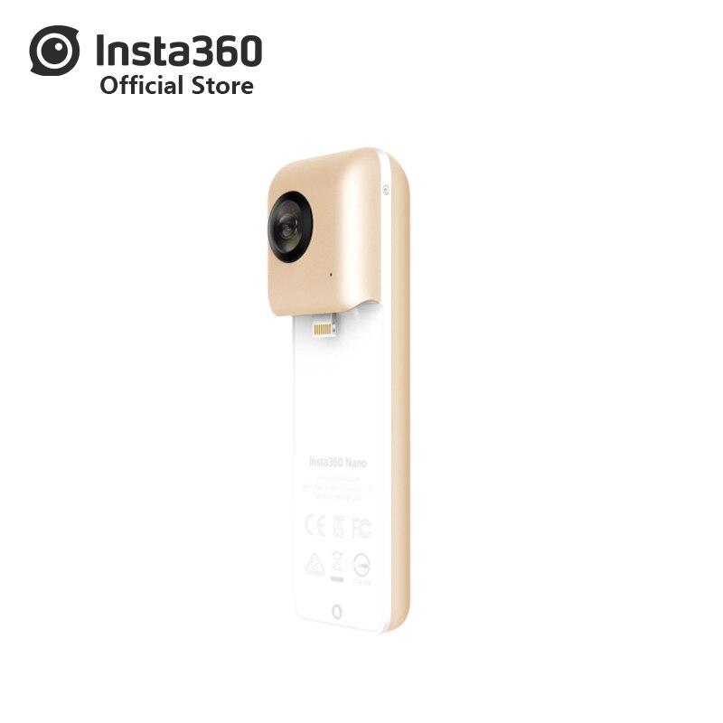 Insta360 нано мини труба из углеродистого волокна 3 K HD 360 в прямом эфире Очки виртуальной реальности VR Камера двойной угол объектив с рыбий глаз