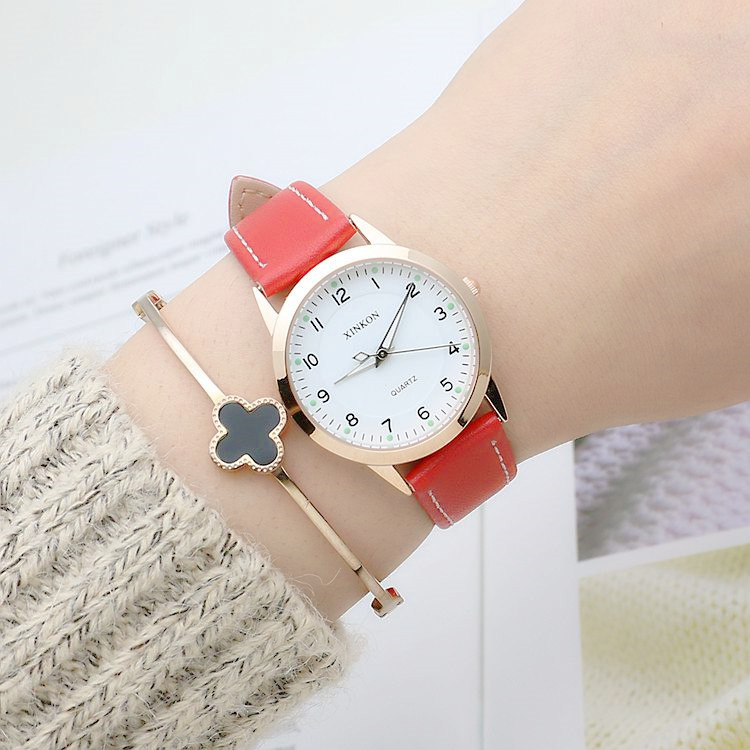 Fashion Dress Watches For Women PU Leather Band Flower Pattern Quartz Wrist Watch Watches Clock Hours woman s retro flower dial analog quartz wrist watch w pu leather band yellow brass 1 x 377