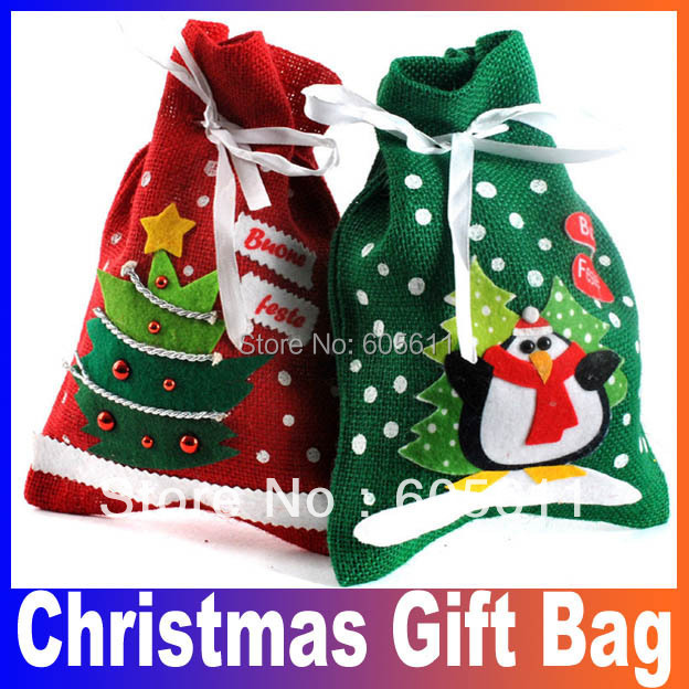 10pcs/lot Santa pants style Christmas candy gift bag for lover/marry ...