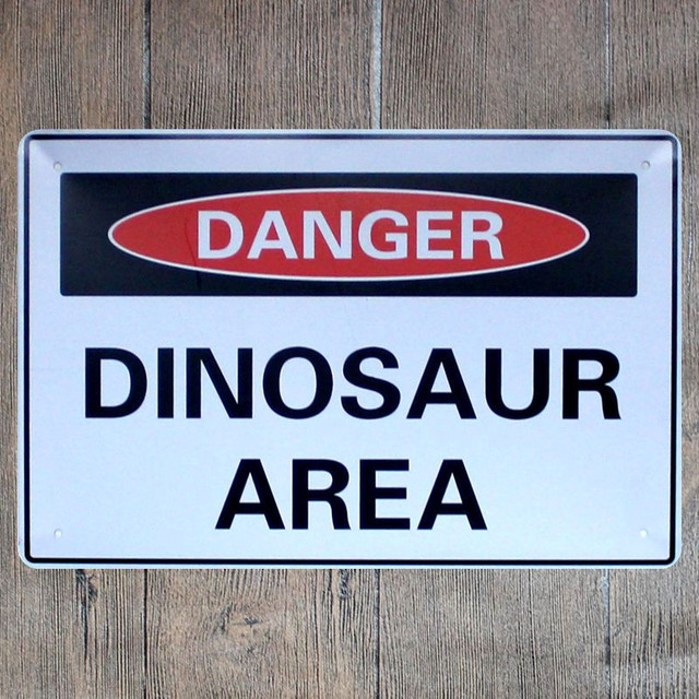 Vintage Home Decor Dinosaur Area Vintage Metal Tin Signs Retro