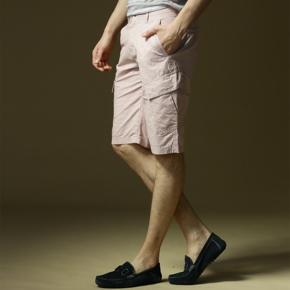 AFS DEER Men Shorts Straight Knee Length Zipper Shorts Plus Size 2018 Brand Fashion Casual Plaid Solid Bermuda Masculina
